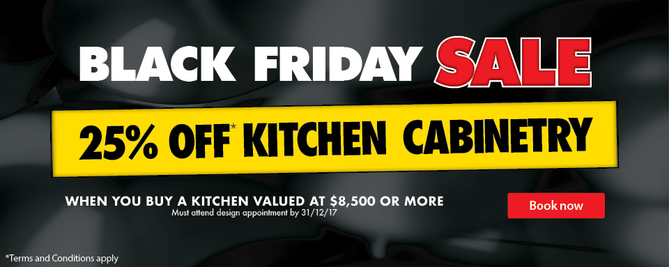 Black Friday Special Offers at Wholesale Kitchens - 25% OFF Kitchen Cabinetry