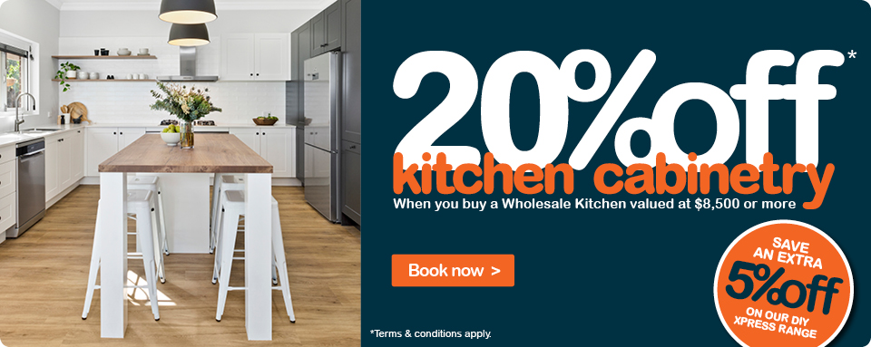 Wholesale Kitchens at 20% off kitchen cabinetry