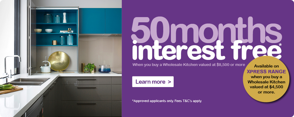 50 Months Interest Free on your Wholesale Kitchen