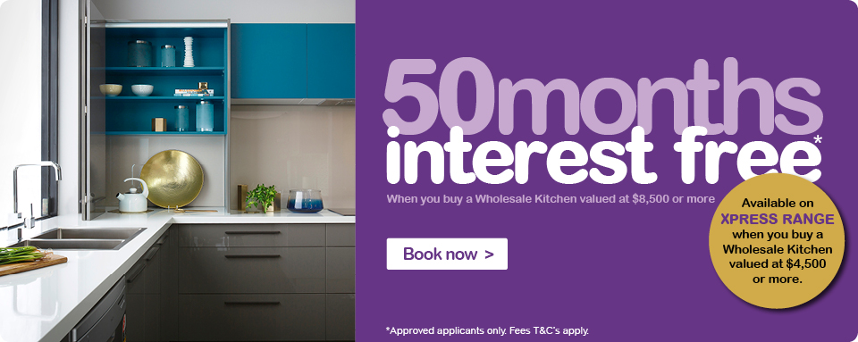 50 months interest free at Wholesale Kitchens