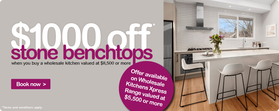 $1000 off stone benchtop